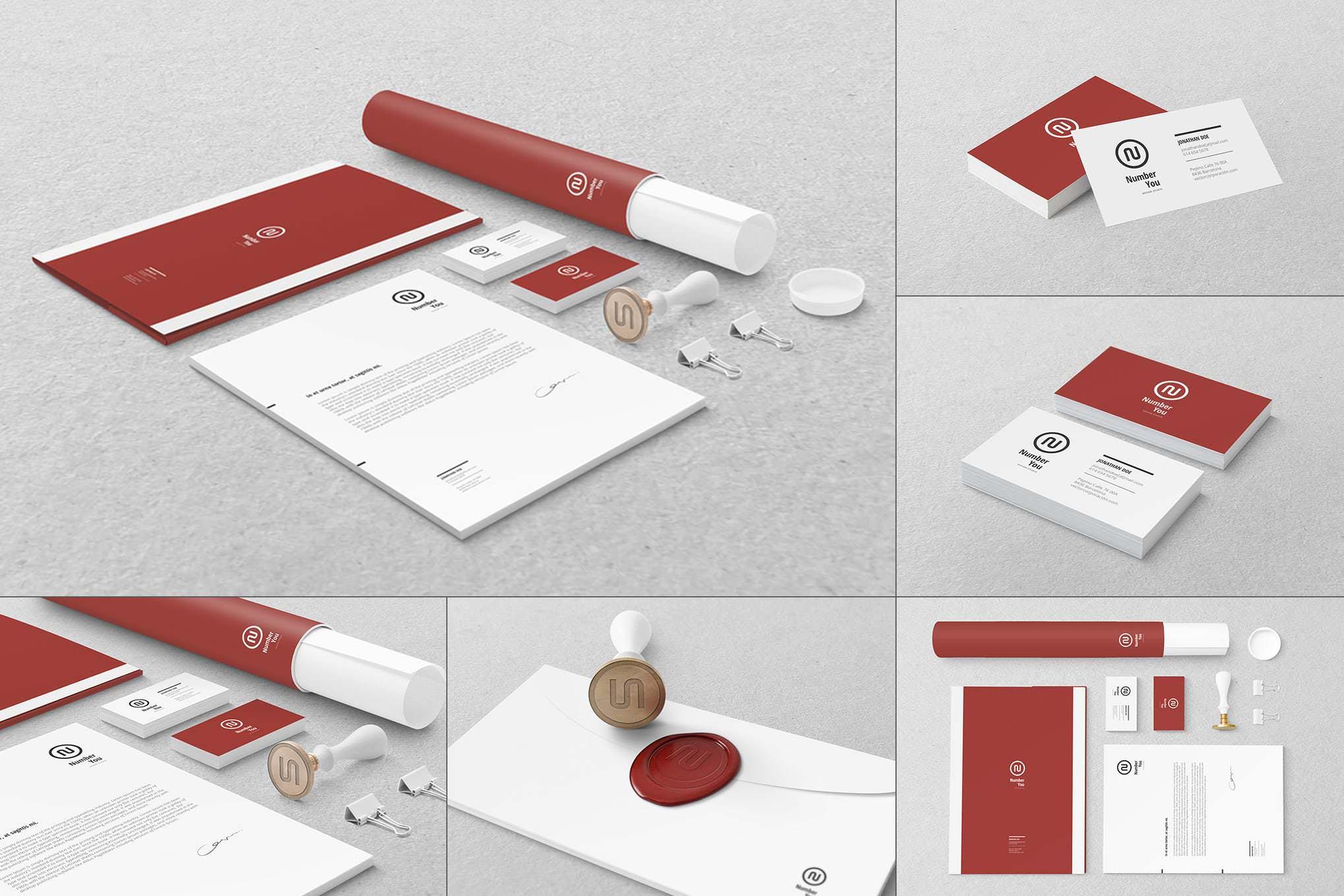 自定义品牌办公场景物品插图(1)