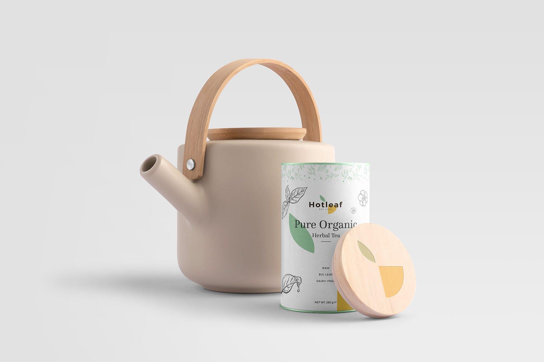茶叶品牌VI茶产品相关自定义物品