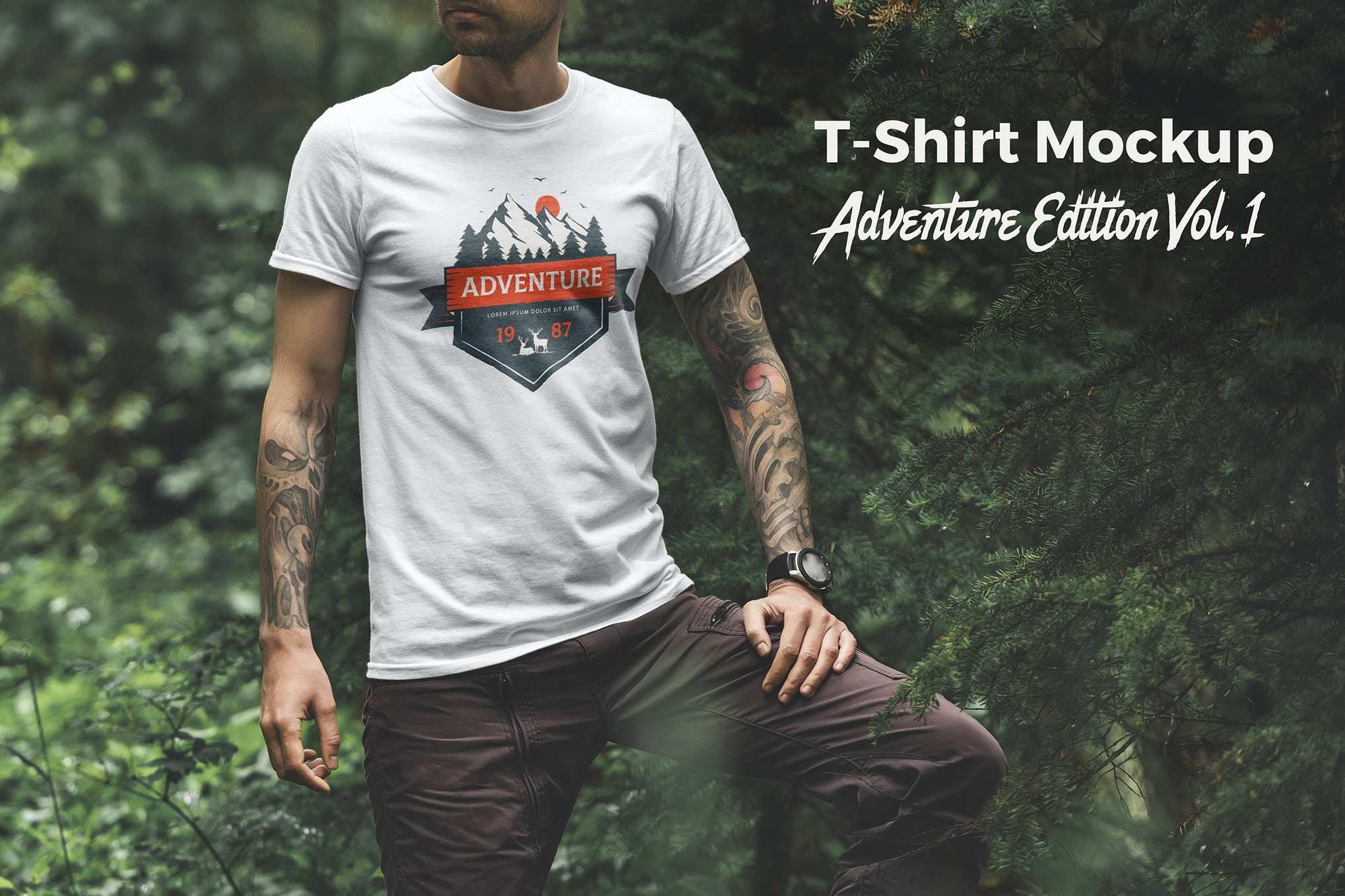 狂野自然风格短袖T恤衫套装