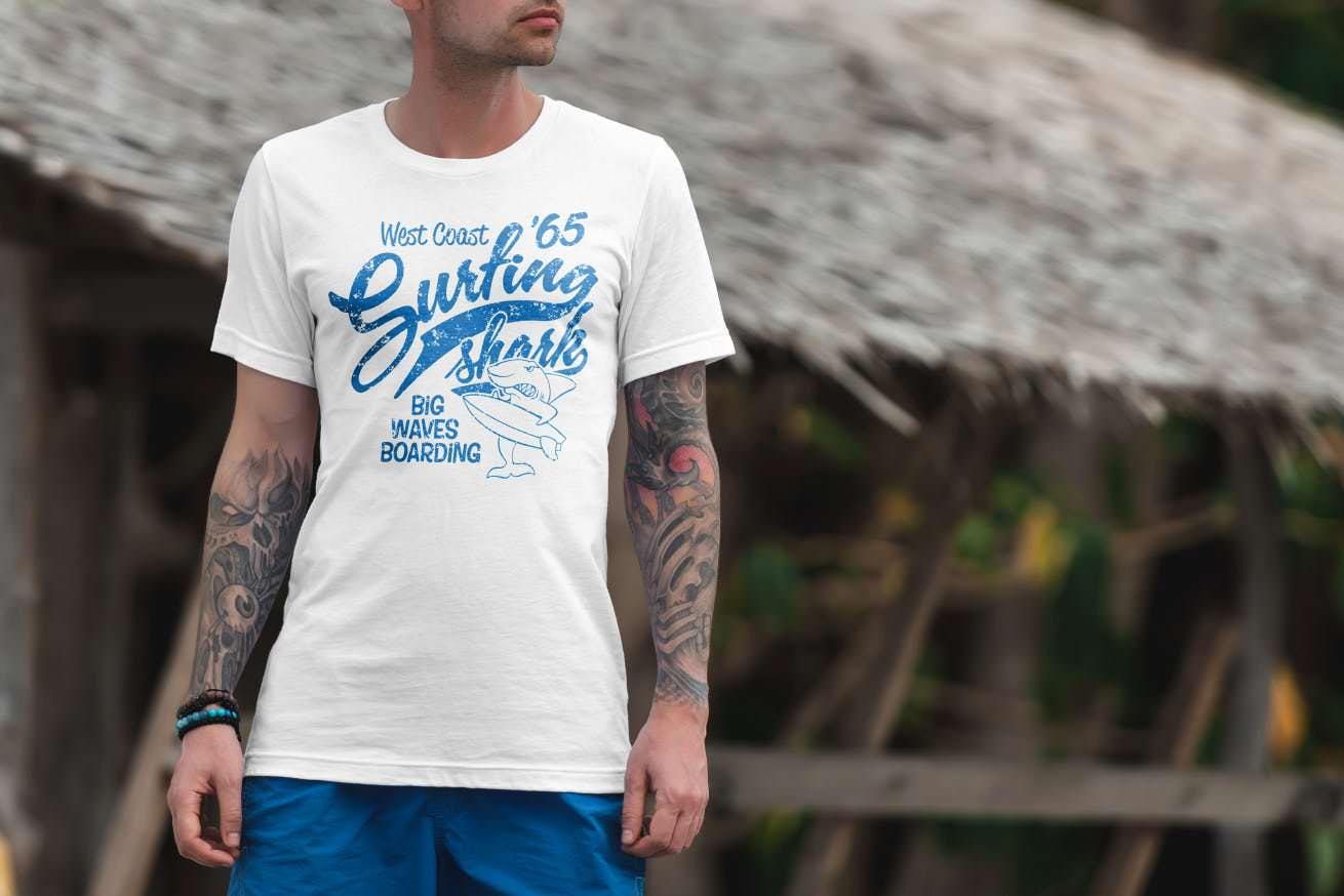 旅游旅行风格短袖T恤衫套装