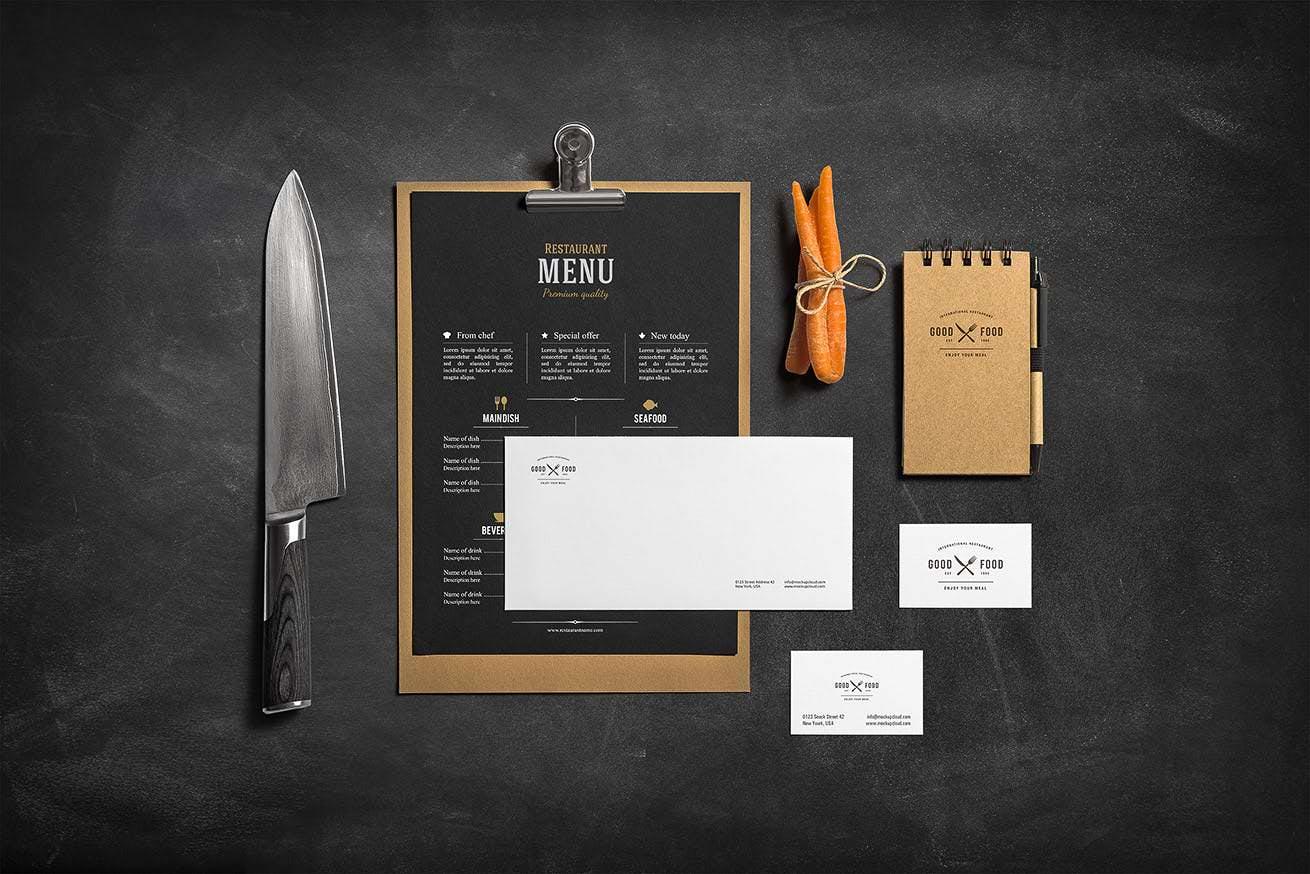 品牌VI餐厅场景自定义物品