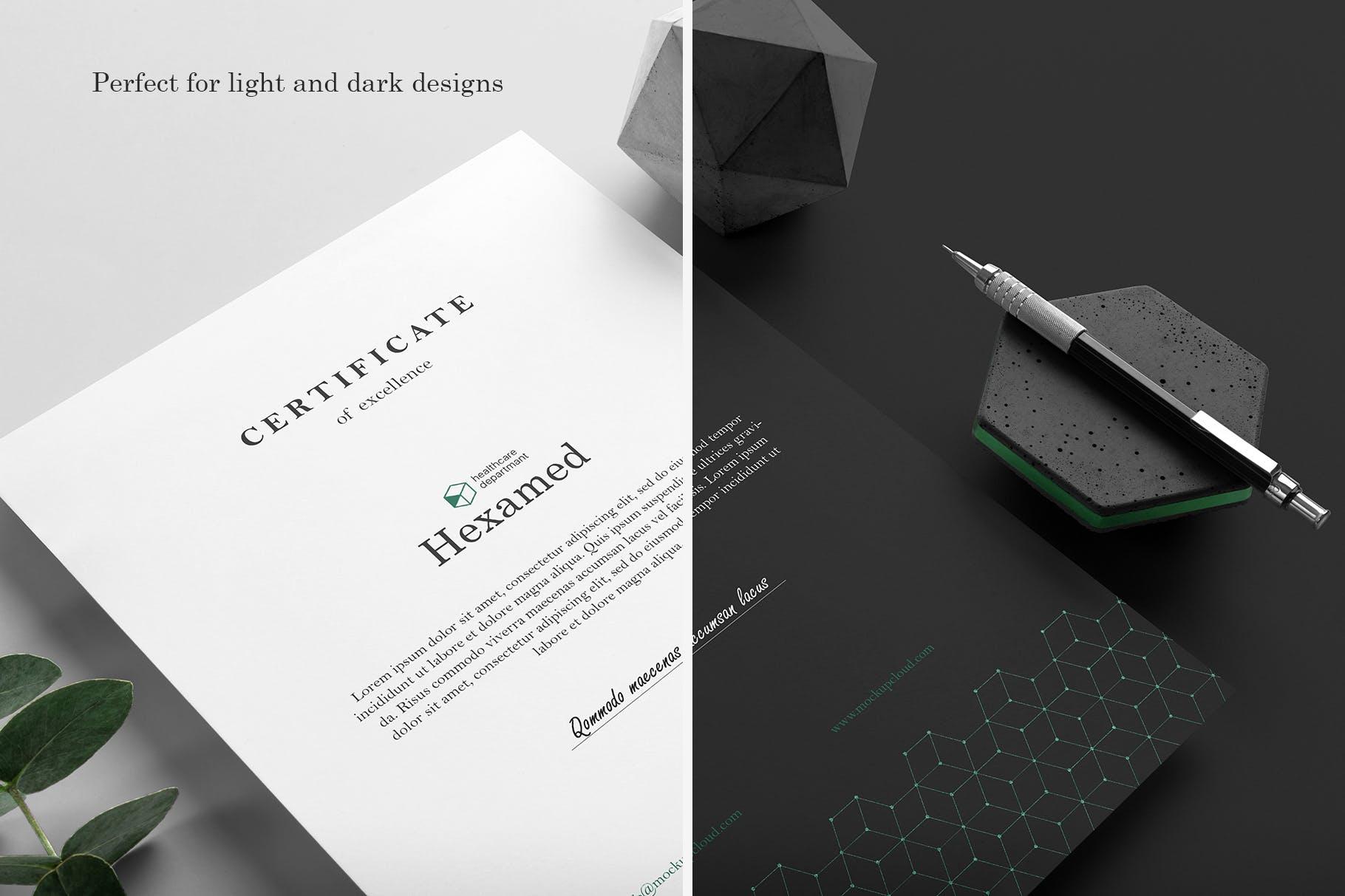 品牌VI绿色六边形风格展示
