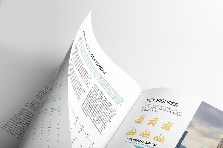 竖版宣传册杂志展示