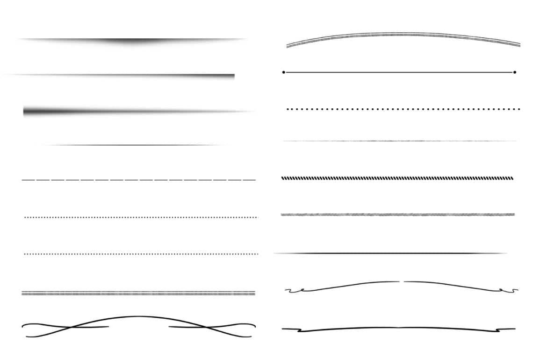 30种分割线PS笔刷
