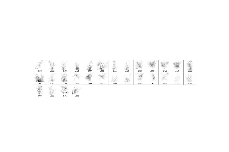 30种粉末喷射PS效果笔刷