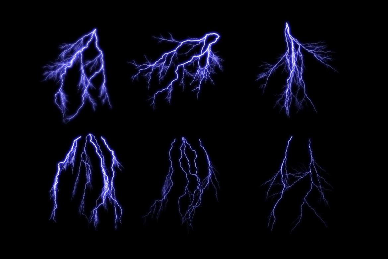 30种风暴闪电效果PS笔刷