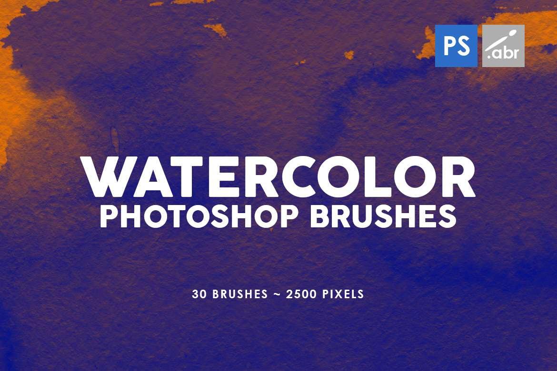 30种水墨纹理效果PS笔刷v4
