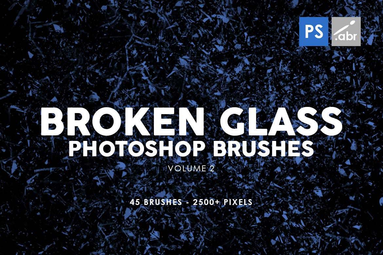 45种玻璃破碎效果PS笔刷