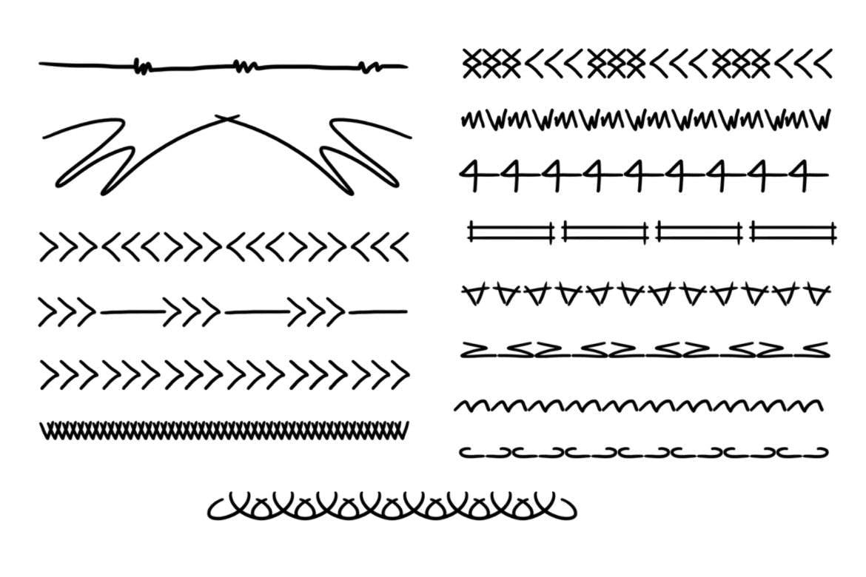 45种分割线PS笔刷