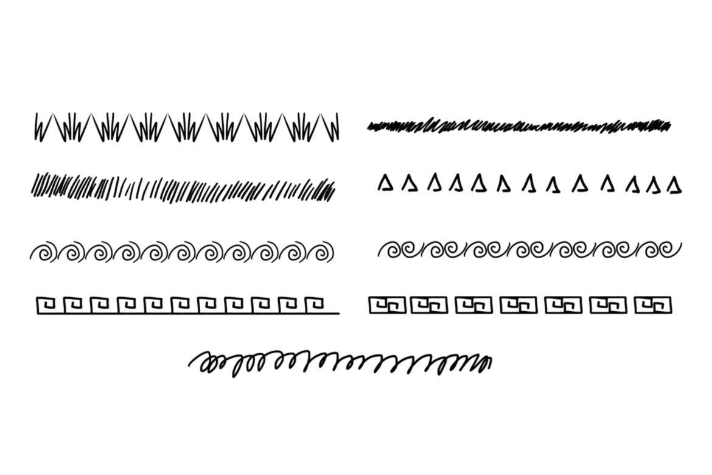 45种分割线PS笔刷v1
