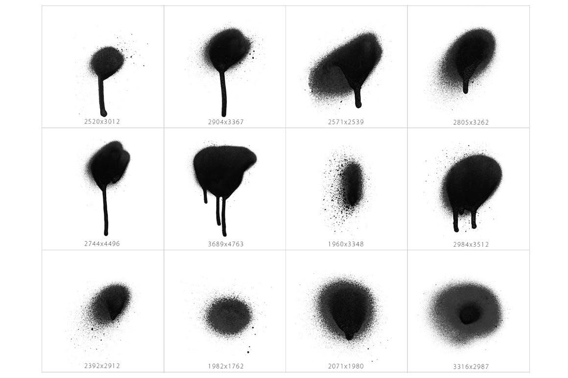 101种圆形喷墨喷漆效果PS笔刷
