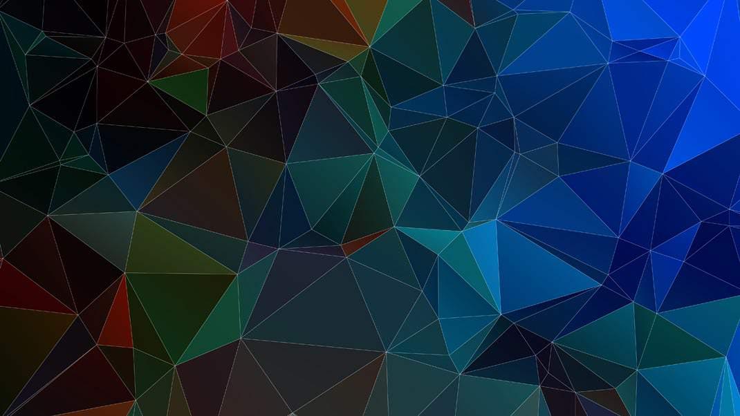 25种3D多边形效果背景