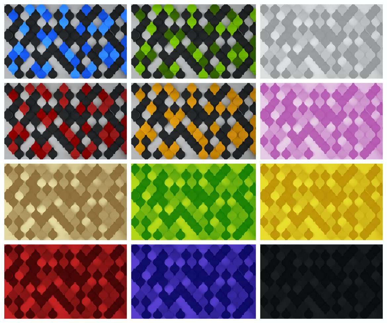 12种3D圆圈相交纹理