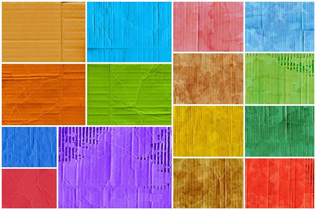 15种彩色纸板纹理背景图