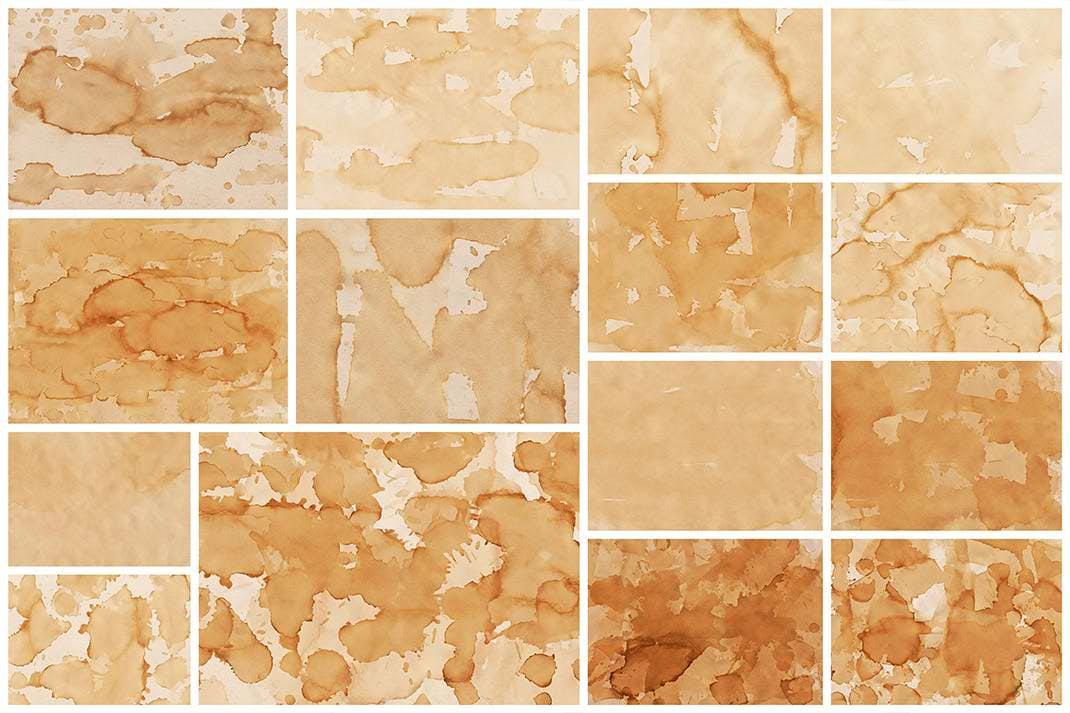 15种茶渍材质纹理背景