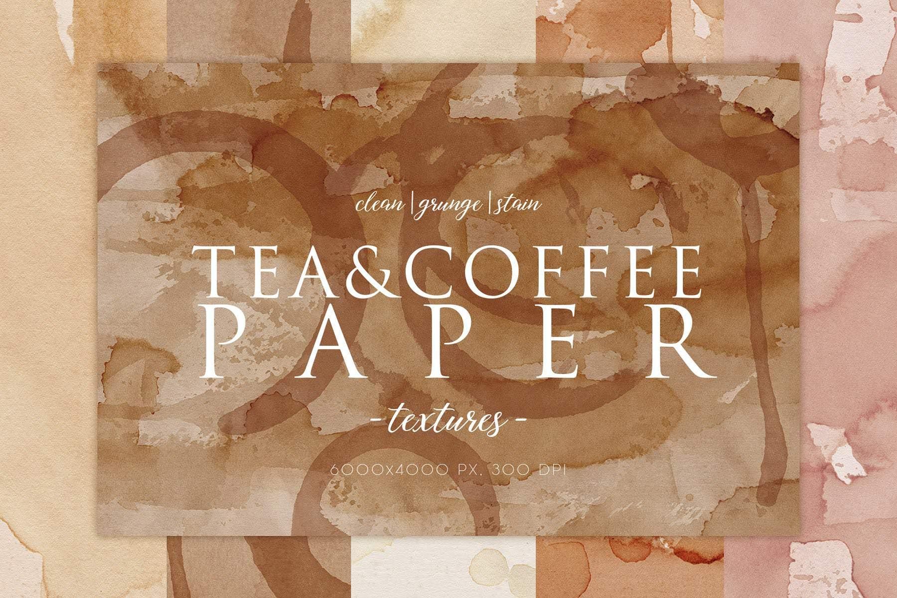 15种咖啡污渍纹理背景