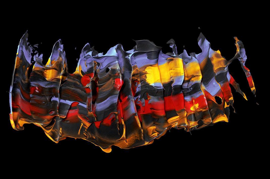 17种抽象艺术油画形状