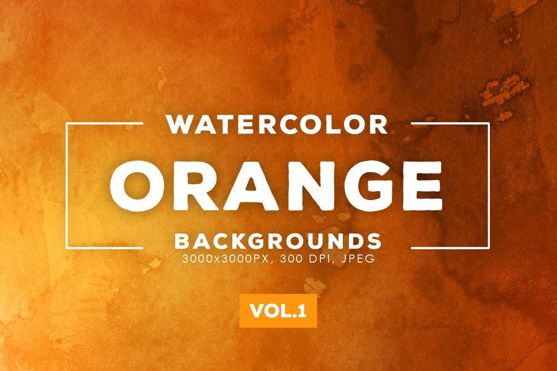 30种橙色水墨背景