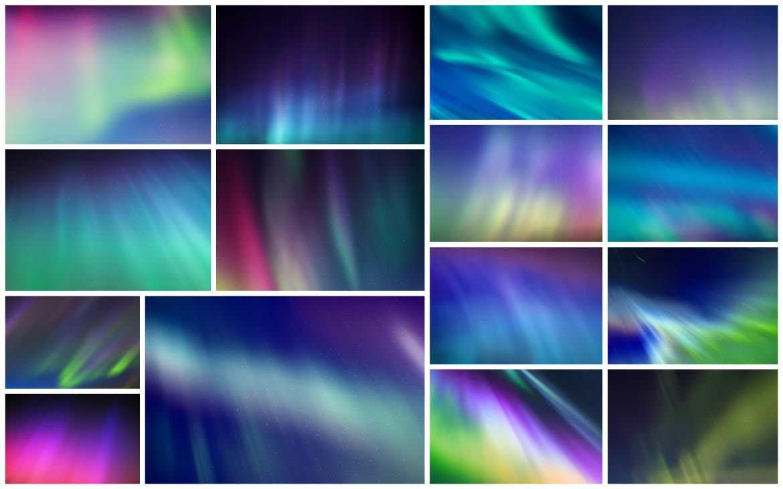 30种极光太空背景