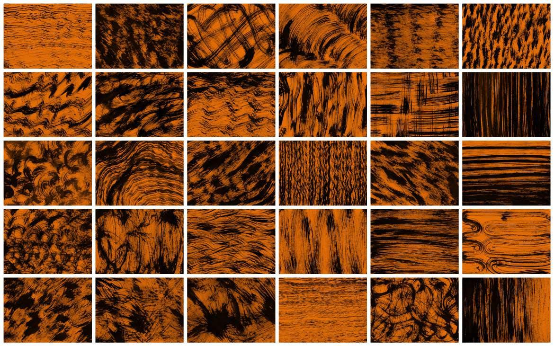 30种桔色橙色墨水材质