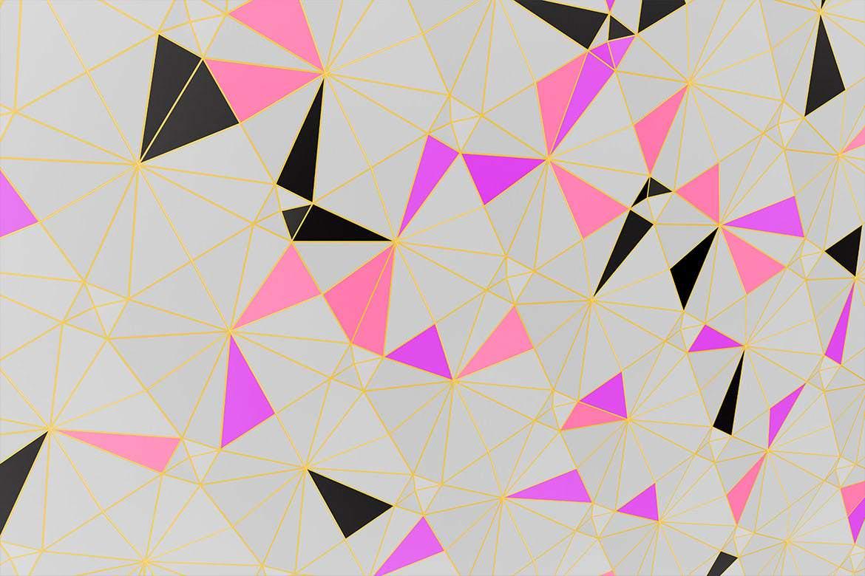 40种抽象三角立体质感材质背景图