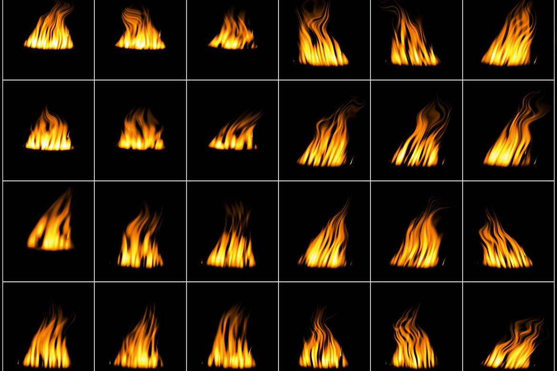 50种火焰火光效果图层