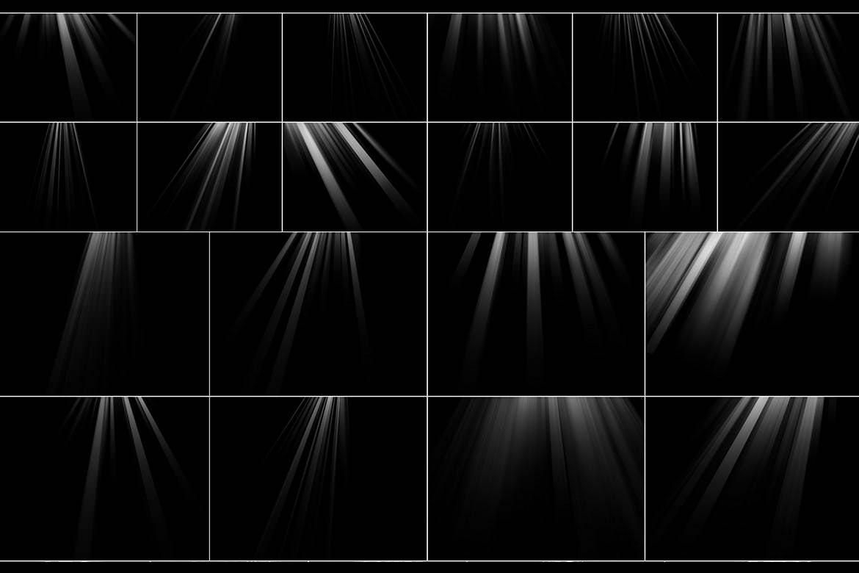 75种阳光照射光束效果图层
