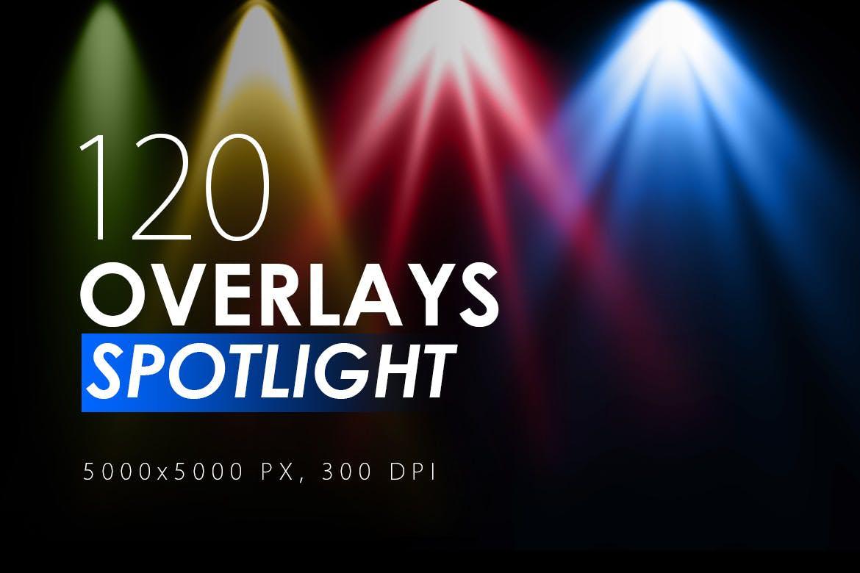 120种彩色闪光灯聚光灯图层背景图
