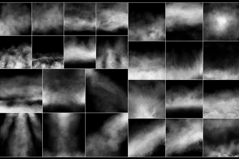 100种烟雾雾气图层背景图