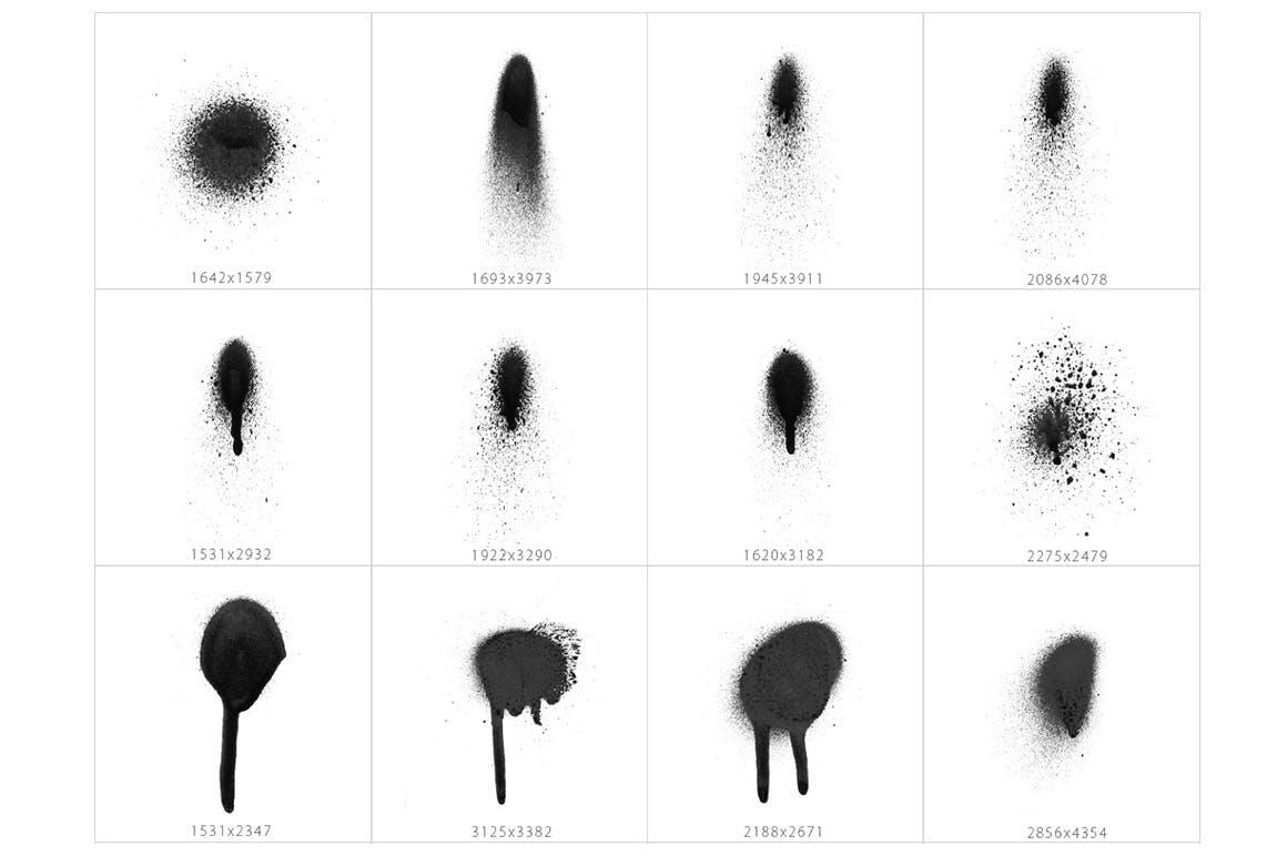 101种圆形喷墨喷漆效果图层