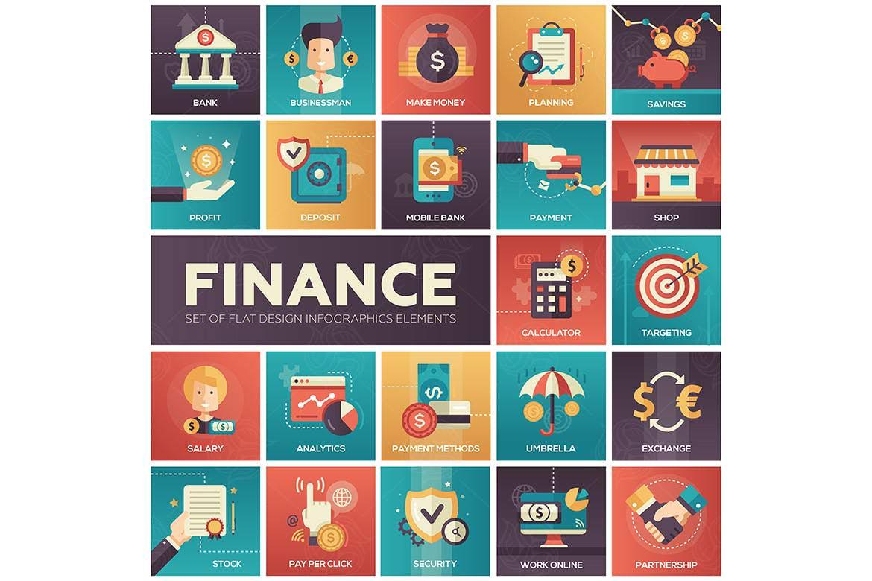 扁平金融图标