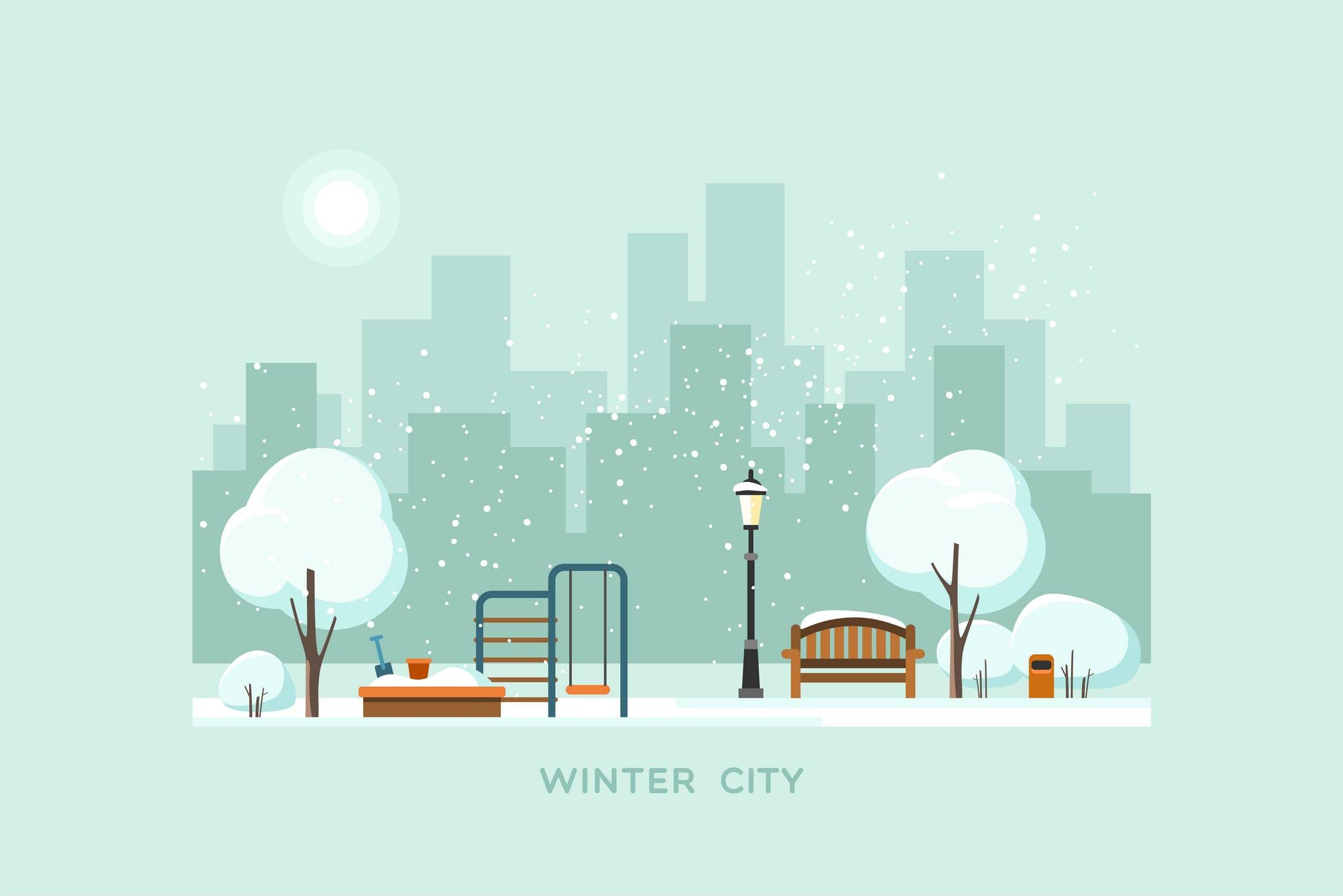 冬季的城市