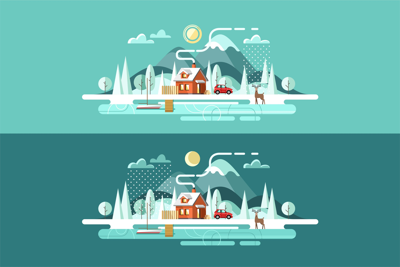 冬天城市景观