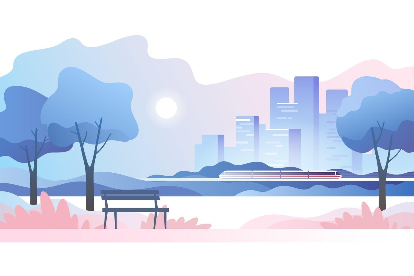 空旷城市公园