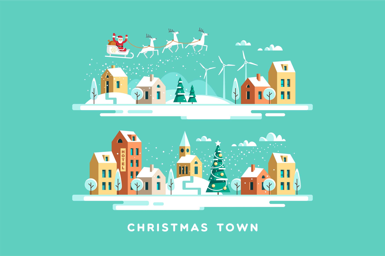 圣诞节下的城市