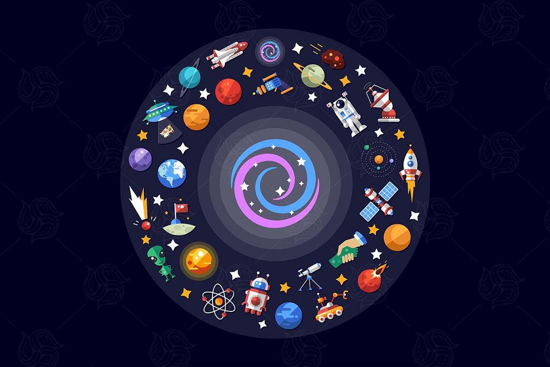 太空宇宙飞船图标