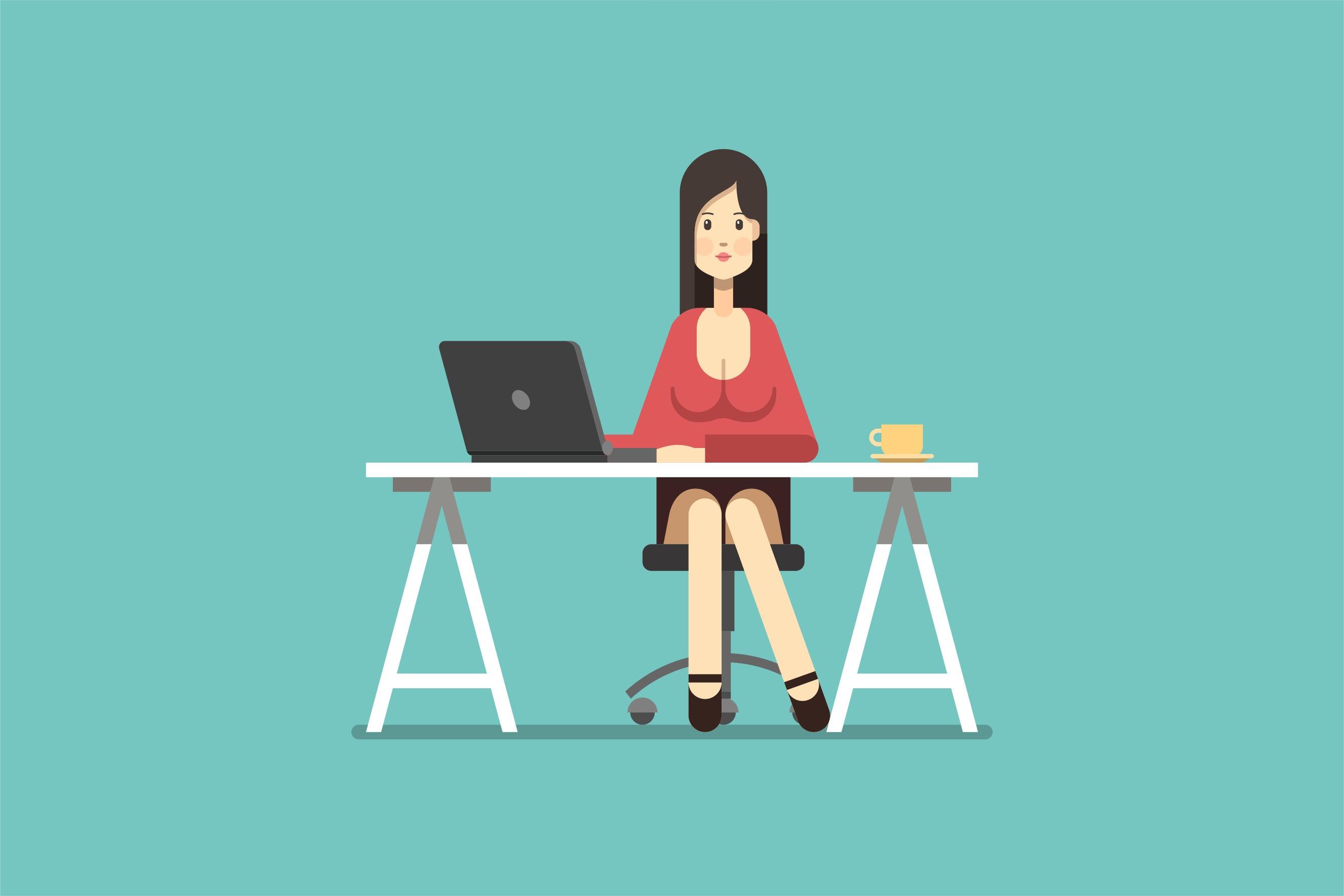 在办公的女人