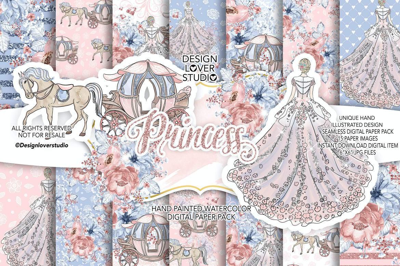 公主与马车婚礼包装设计