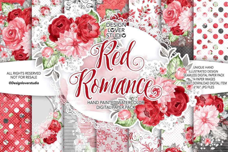 红色浪漫玫瑰
