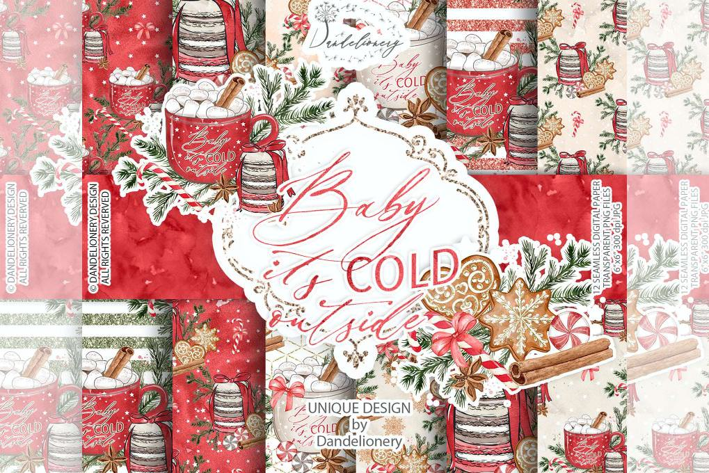 红色圣诞节主题物品