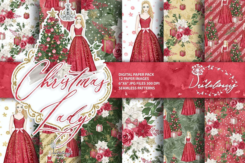 红色圣诞女郎