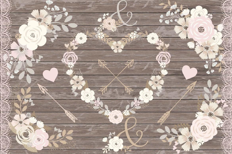 婚礼元素剪纸剪花