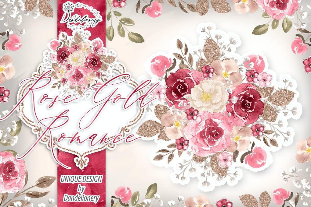 金色玫瑰与浪漫
