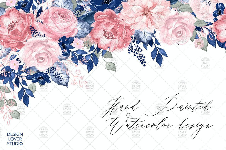 蓝色风格花朵主题V2
