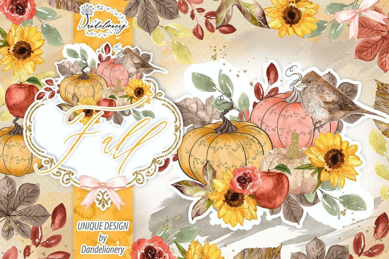 秋季丰收与南瓜