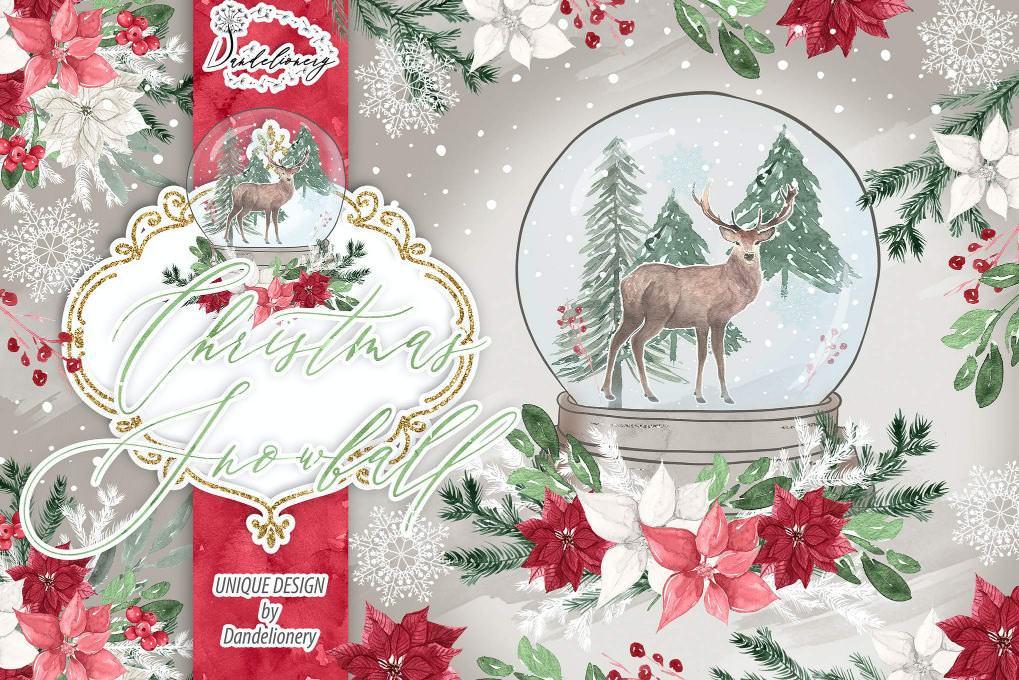圣诞雪花球