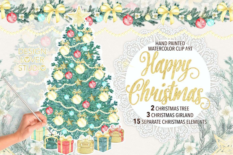 水墨圣诞树