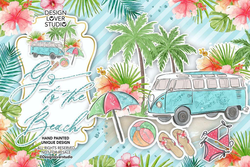 夏日沙滩旅游