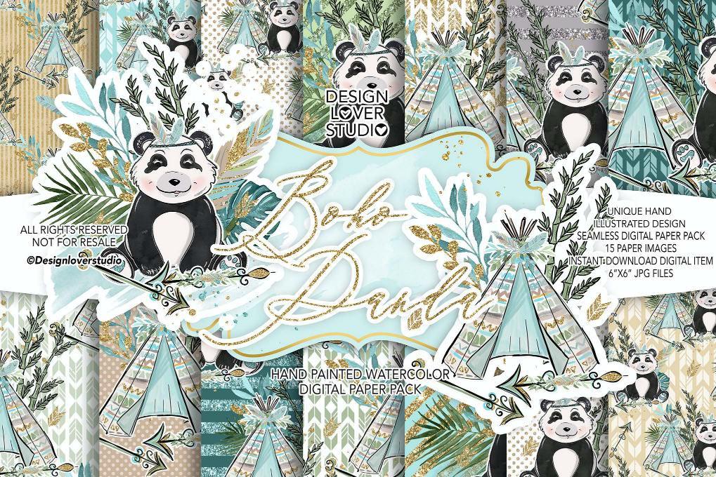 小熊猫卡通元素