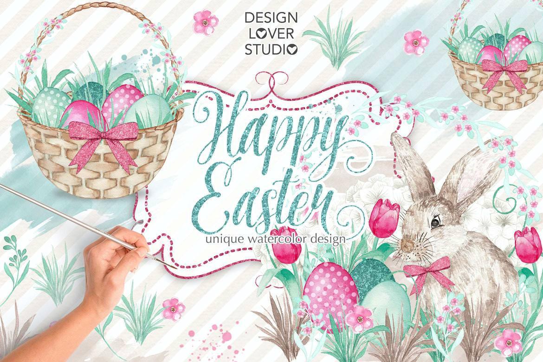 快乐复活节兔子